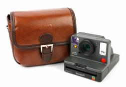 Small Brown PU Leather Satchel Carry Bag for Polaroid OneSte