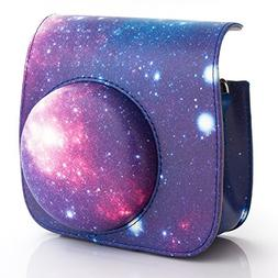 Woodmin Compatible Exclusive Galaxy PU Leather Camera Case w