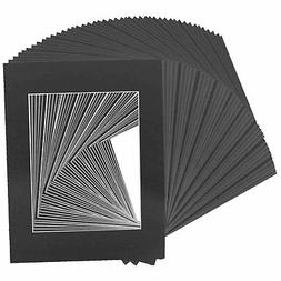 Golden State Art Pack of 50, Acid-Free Black Pre-Cut 11x14 P